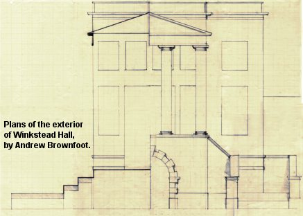 Plans of Winkstead Hall exterior